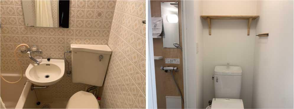 シャワーブース新設によって、居室面積を維持