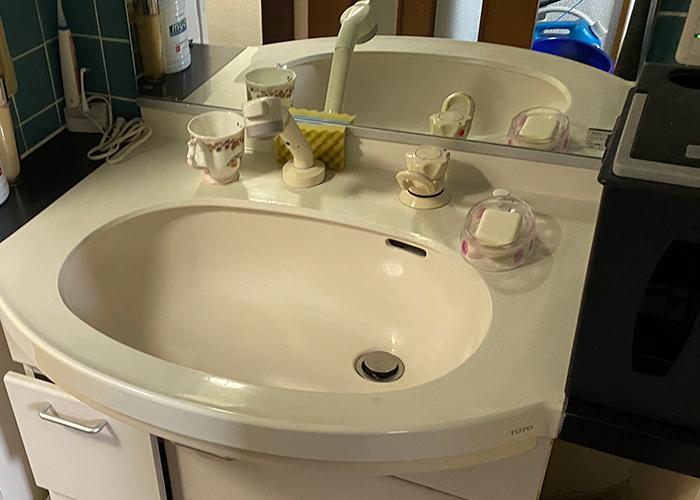 リノベーション後の洗面台です
