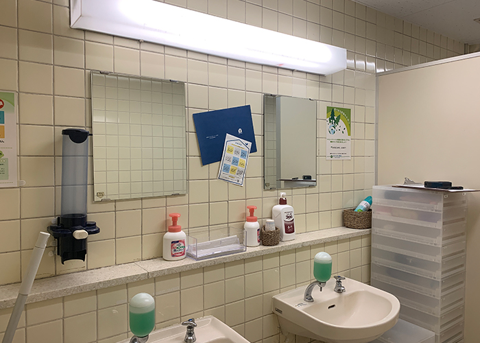 リノベーション前の女子トイレです